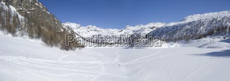 Frozen Alpine Lake