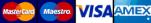 MasterCard - Maestro - Visa - AMEX